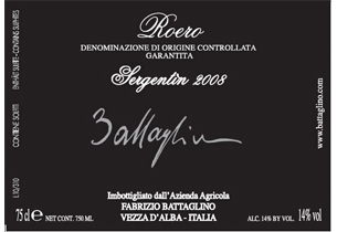 Roero docg Sergentin 2008 – Fabrizio Battaglino