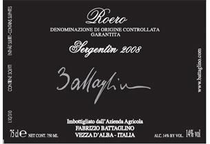 Etichetta Sergentin Roero Arneis 2010