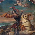 La pala sopra l'altare maggiore dedicata a San Giorgio