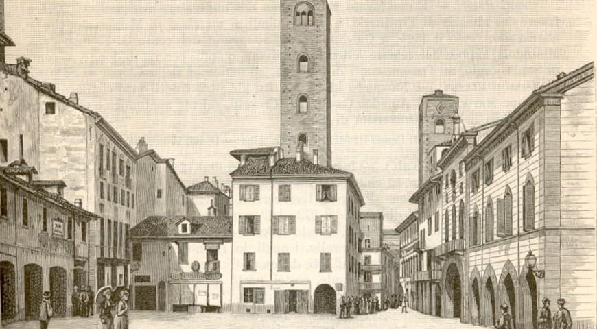 Alba - Piazza delle Torri (ora Risorgimento o del Duomo nella vulgata)