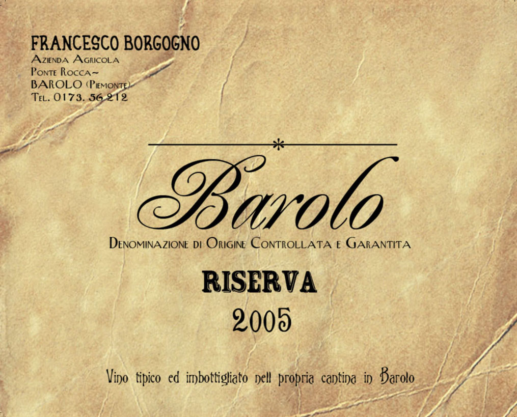 Barolo Brunate 2005 The Barolo Riserva Brunate