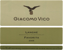 Langhe Favorita D.o.c. 2010 – Giacomo Vico