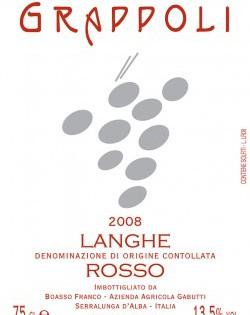 Langhe Rosso DOC 2008 Gabutti Boasso