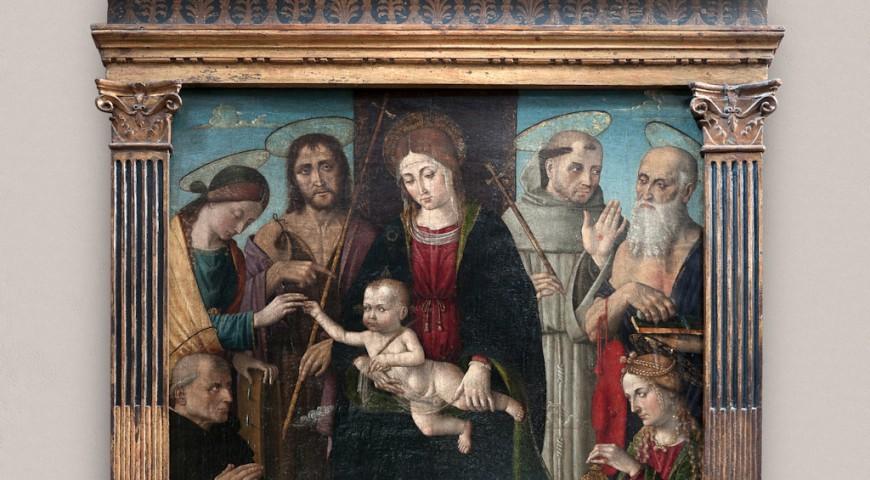 Neviglie - Lo sposalizio mistico di Santa Caterina (Macrino)