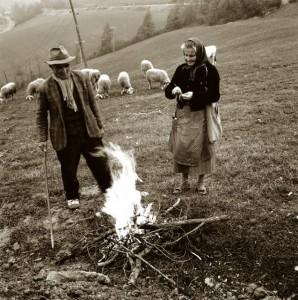 San Benedetto Belbo - contadini (Anni '50-'60 - Foto di A. Agnelli)