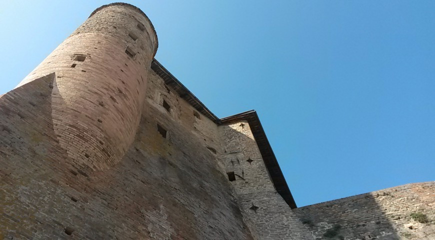 Angular tower of the Castiglione Falletto Castle