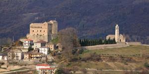Castello e chiesa a Prunetto