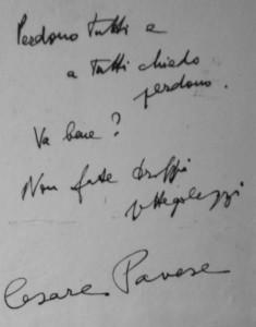 L'ultimo messaggio di Cesare Pavese