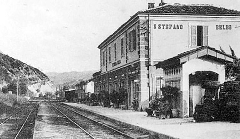 Stazione ferroviaria di Santo Stefano Belbo - com'era