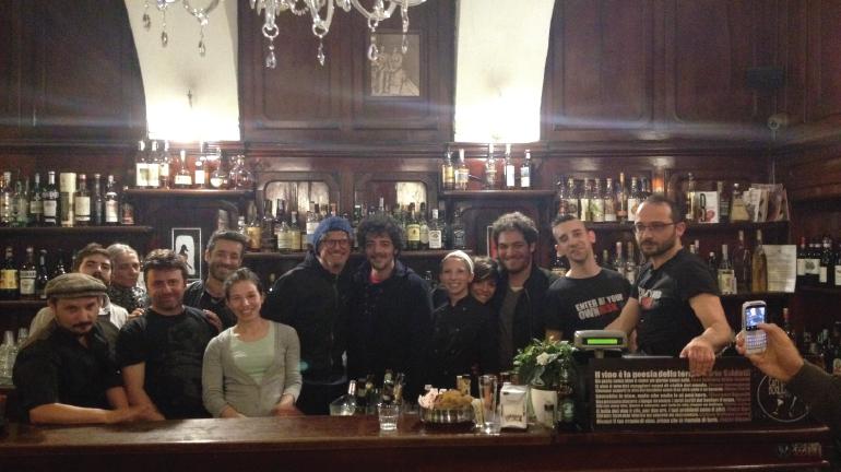 Lo staff del Boglione e di Soundsfood insieme a Daniele Silvestri, Max Gazzé e Niccolò Fabi