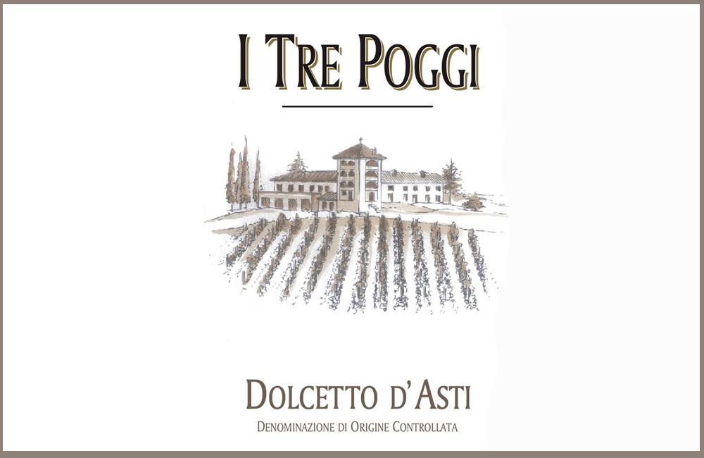 Dolcetto d'Asti DOC 2011 – I Tre Poggi (label)