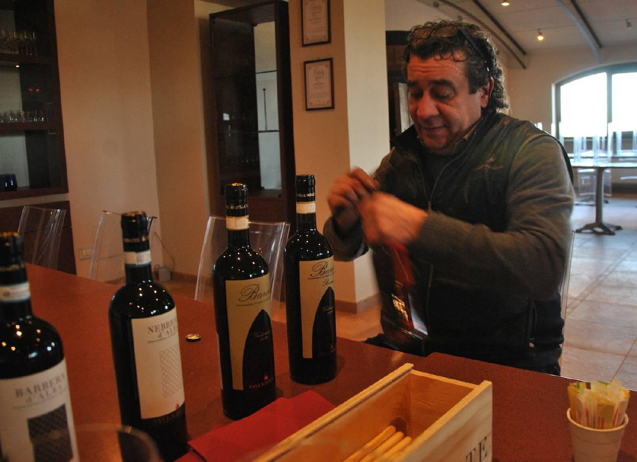 Fabrizio Merlo during the wine tasting