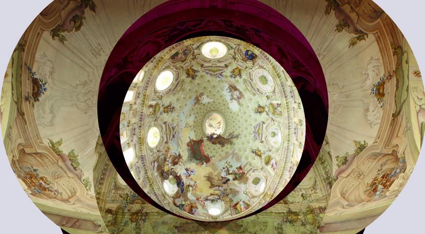 Parte degli affreschi della Cupola