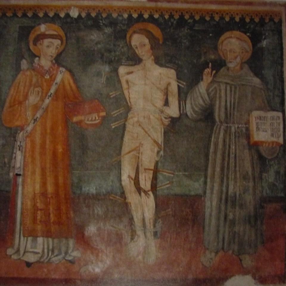 S .Stefano, S. Sebastiano, S. Bernardino da Siena