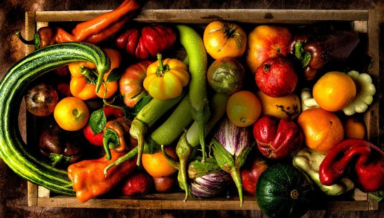 Mercato dei prodotti alimentari bioligici e naturali di alta qualità