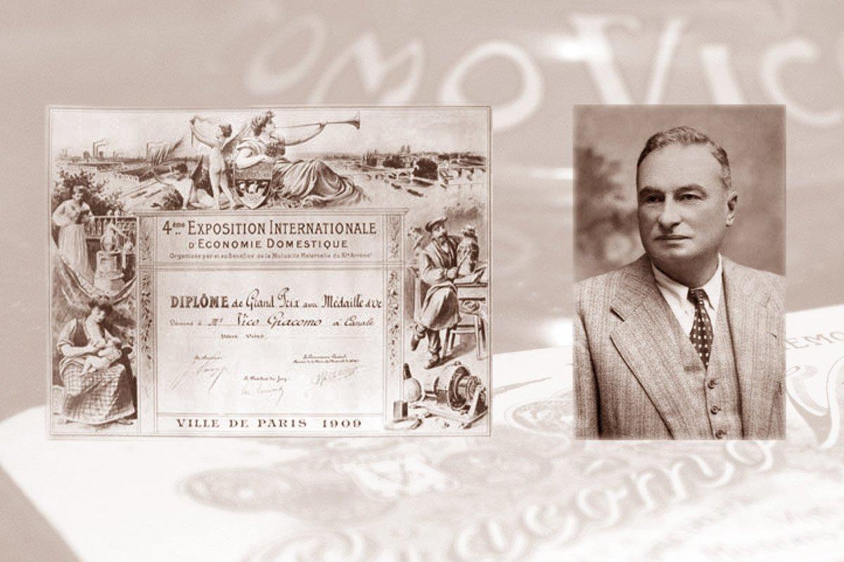 Giacomo Vico - Medaglia d'oro all'Esposizione di Parigi 1909