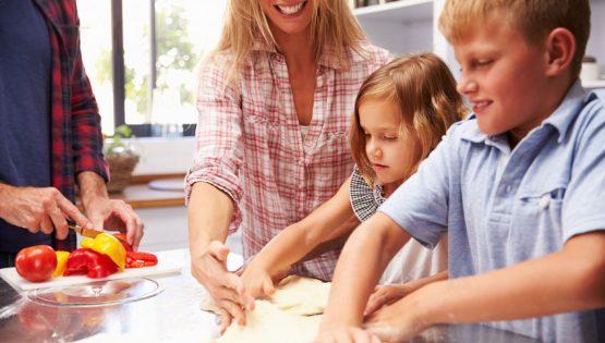 Corso di cucina con mamma e papà