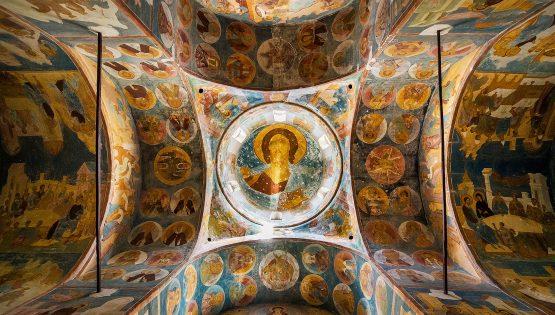 Sacre icone ed illustrazioni di antichi affreschi