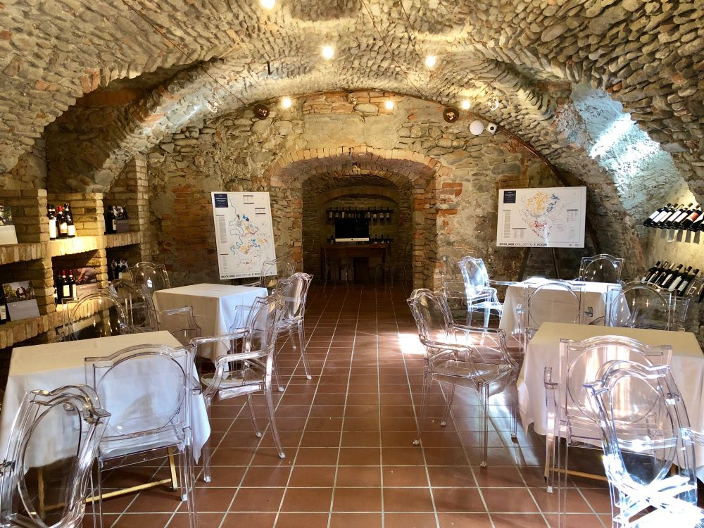 La sala degustazione