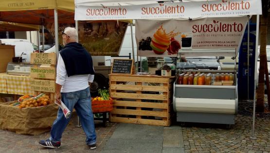 Succolento al Mercato della Terra Slow Food